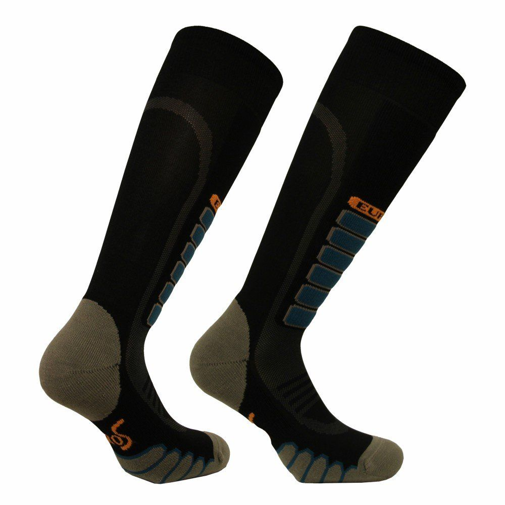 Eurosocks Silver Supreme Sock Black Large Snow Ski Socks Lightweight Skiing Socks Second Skin Fit And Feel Embraces The Foot E Socks Ski Socks