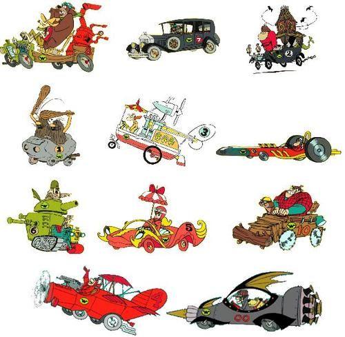 dibujos animados los autos locos personajes - Buscar con ...