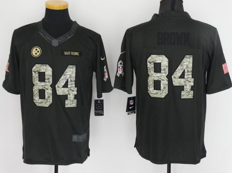 06a003394b Pittsburgh Steelers 84 Brown Anthracite Salute To Service Jersey Oakland  Raiders
