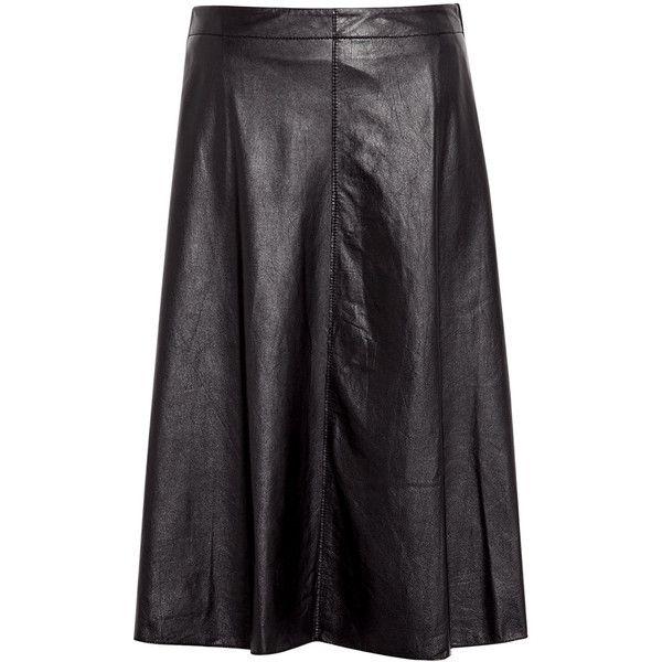 d06ad1a1b9 3.1 Phillip Lim Umbrella Box Pleat Leather Skirt ($1,203) ❤ liked on  Polyvore