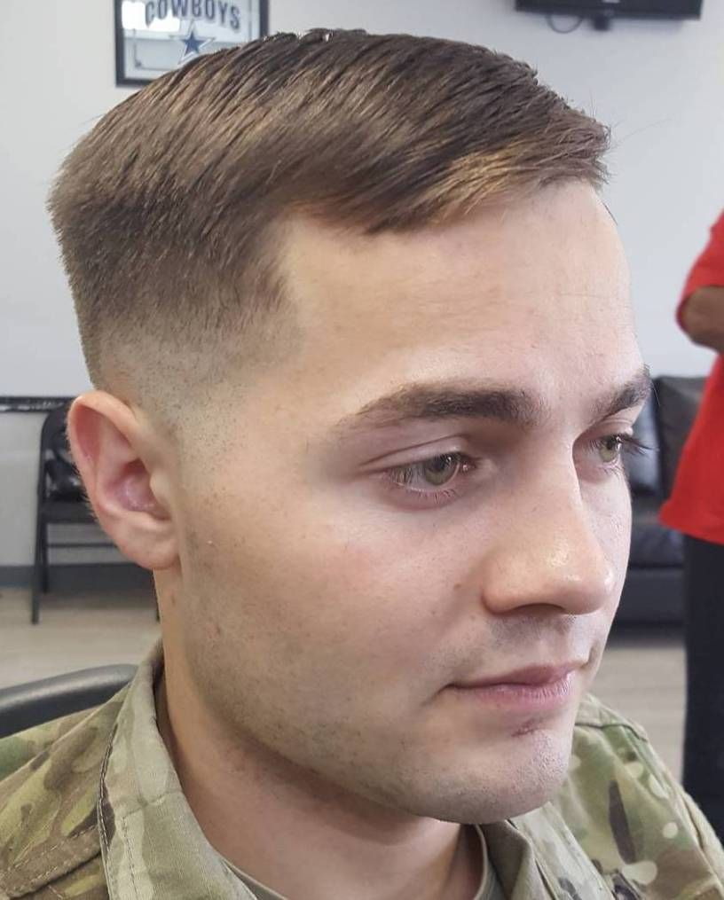 Oblong face haircut men  different military cuts for any guy to choose from  medium