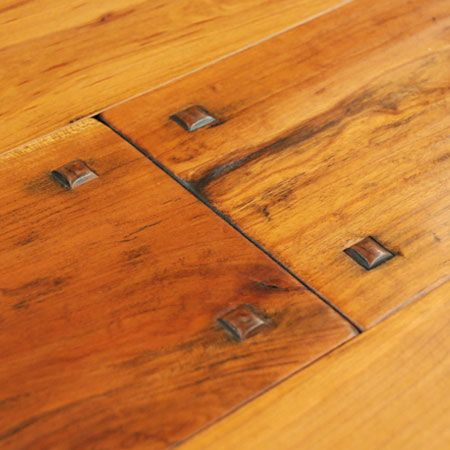 Authentic hand scraped wide plank hardwood floors for Hand scraped wood floors
