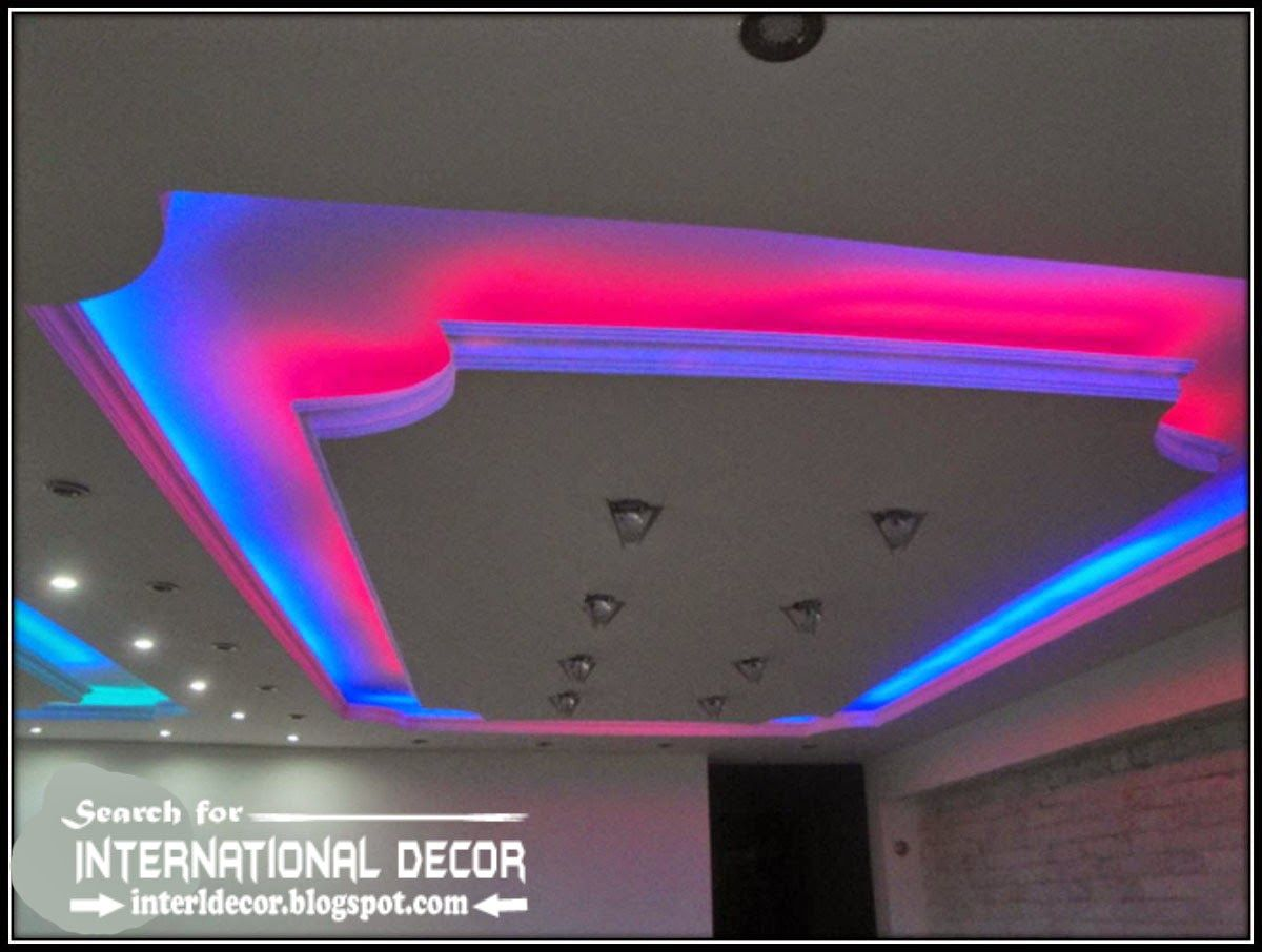 Led Ceiling Lights Led Strip Lighting In The Interior Suspended