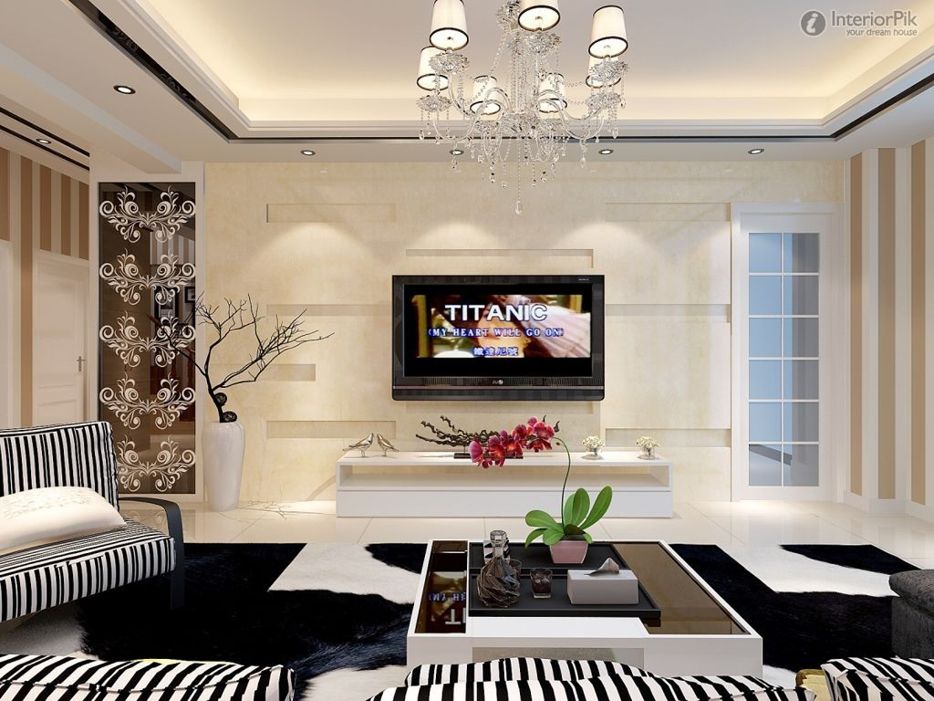 Living Room : Stylish Modern Tv Room Decor Ideas With White Fur .