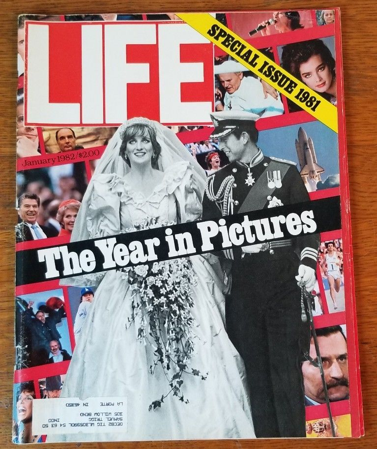 Life Magazine 1981 The Year In Pictures w/ Royal Wedding