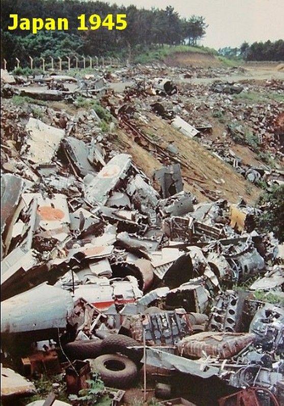 Japanese aircraft wrecks 1945