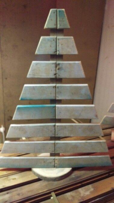 Kerstboom Van Sloophout Met Boomstam Voet Sloophout Boomstam En