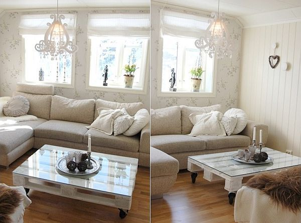 Glas-Kaffeetisch-Wohnzimmer-selber-machen Inspirationen - dekoideen wohnzimmer selber machen
