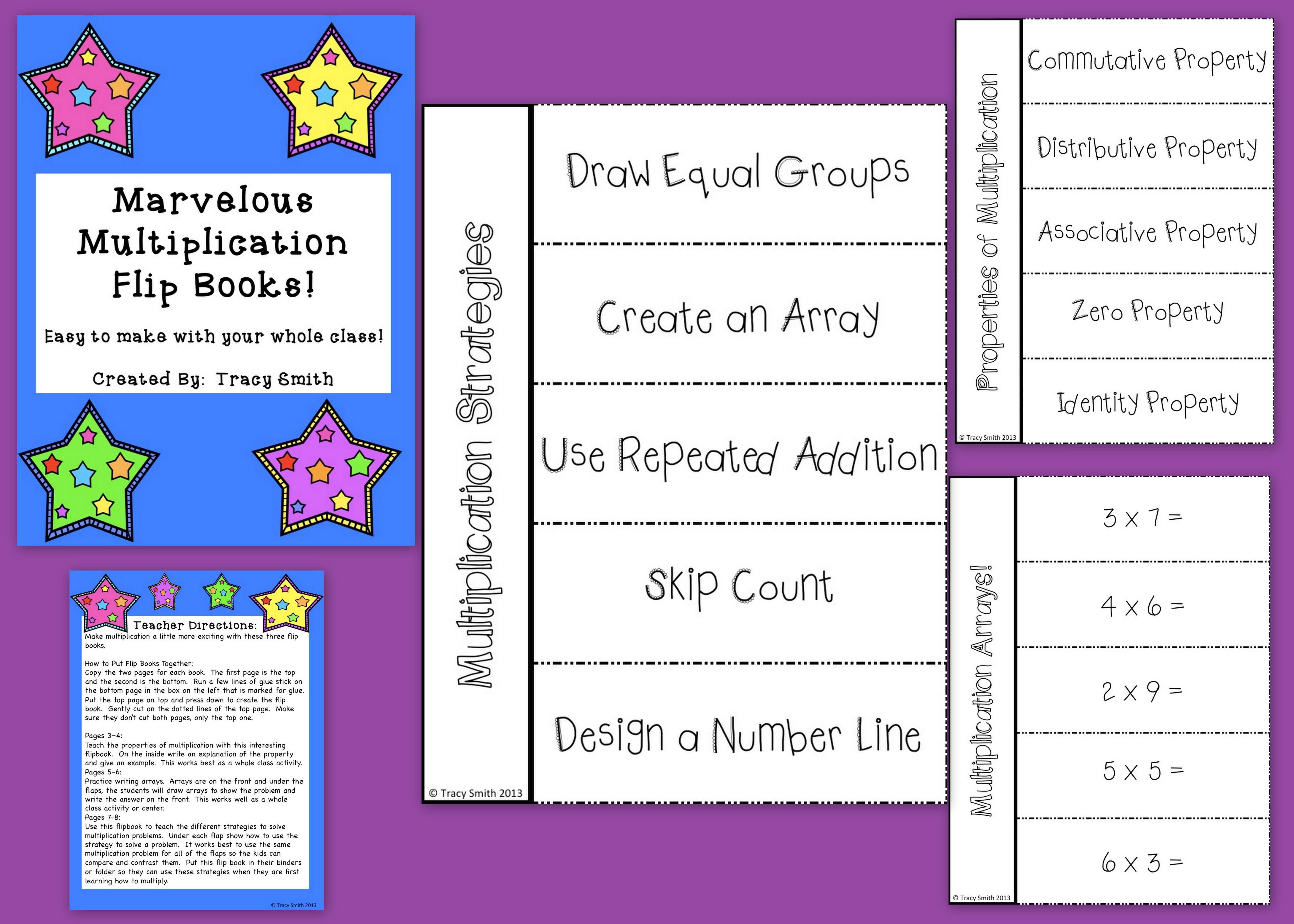 Marvelous Multiplication Flip Books
