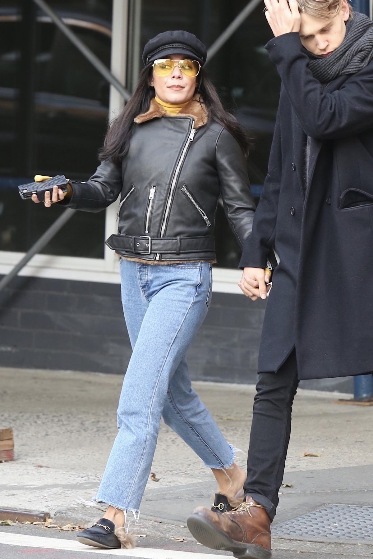 6906d8173504f Vanessa Hudgens wearing Gucci Princetown Fur Mules