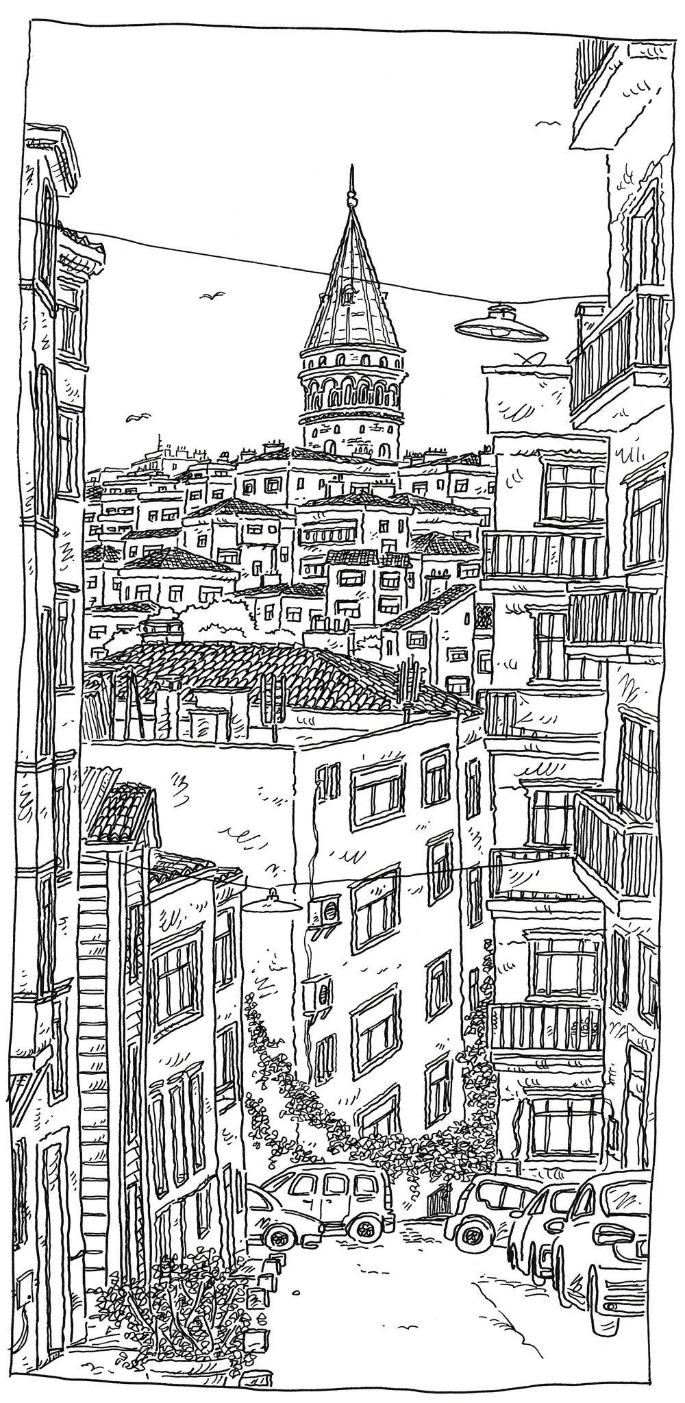 Turkey Istanbul Beyoglu Turkgucu Caddesi Kitap Kapagi Sanati