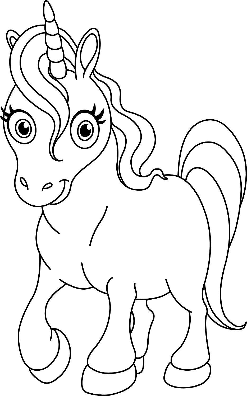 Coloriage licorne : 5 modèles à imprimer gratuitement  Horse