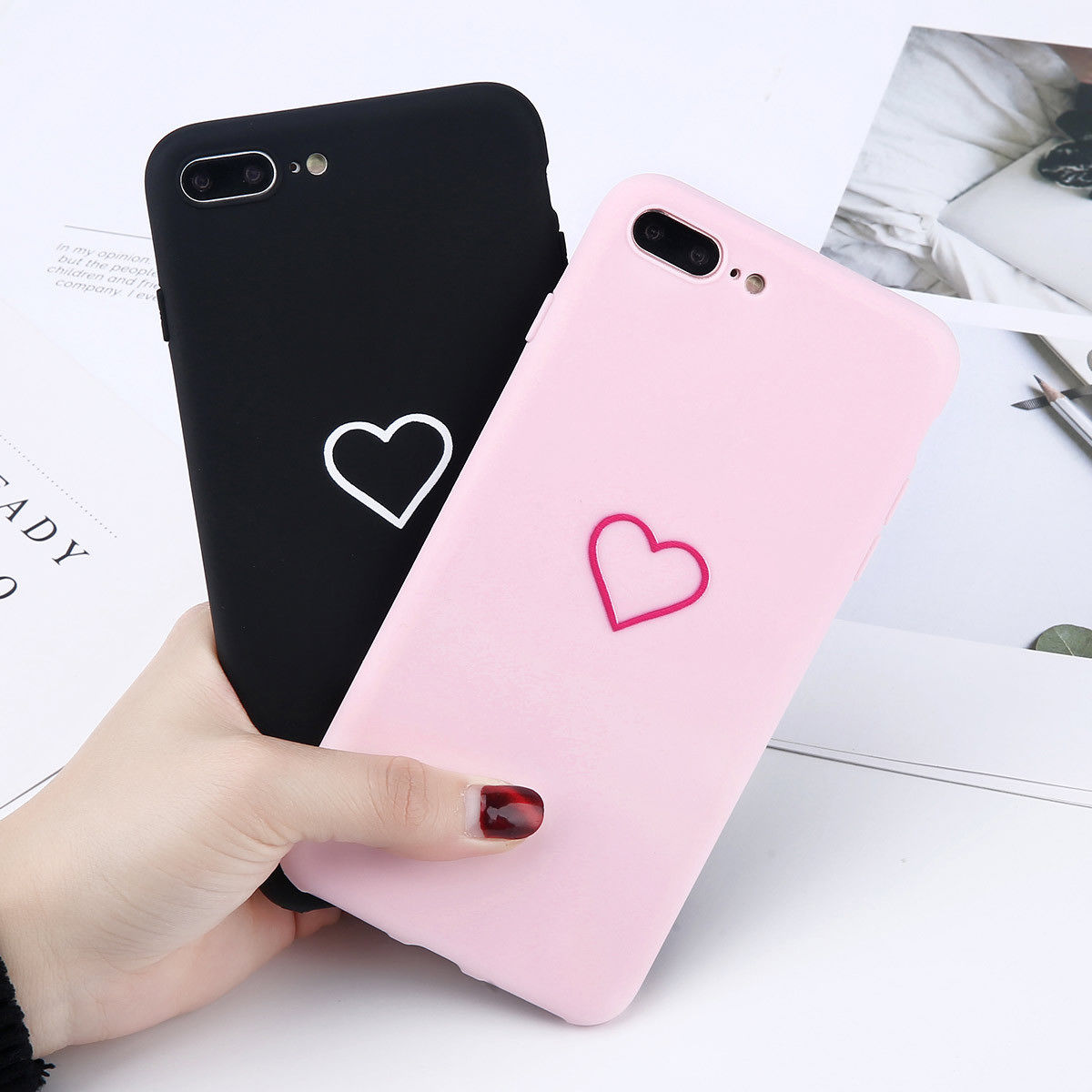 $1 32 for apple iphone 6 6s 7 8 plus x cute love heart rubber soft