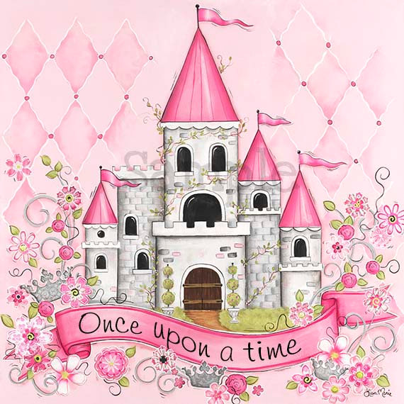 Princess Room Art Personalized Princess Castle Childrens Wall Magnificent Castle Building And Remodeling Decor Painting