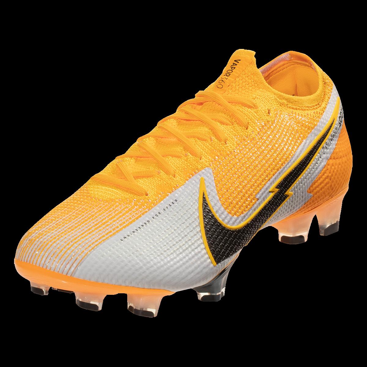 Nike Mercurial Vapor 13 Elite Fg Soccer Cleat Laser Orange Black White Soccer Com In 2021 Cleats Soccer Cleats Football Boots