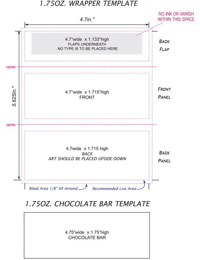 Luxury Free Mini Candy Bar Wrapper Template