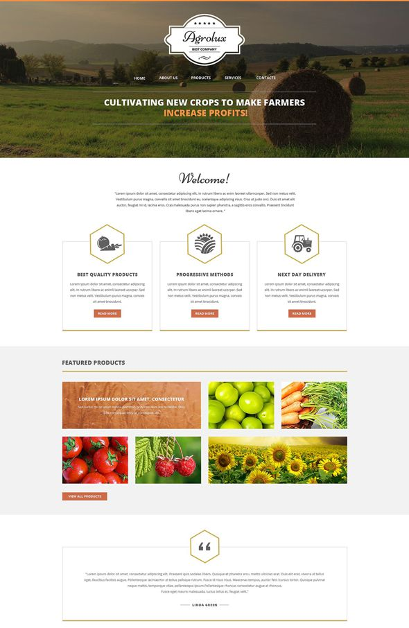 here are best HTML Responsive Agriculture Website Templates which ...