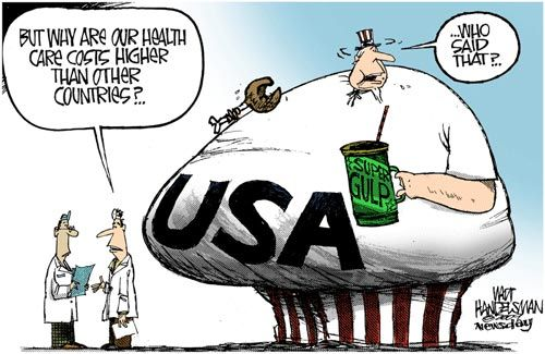 Image result for us health care cartoons
