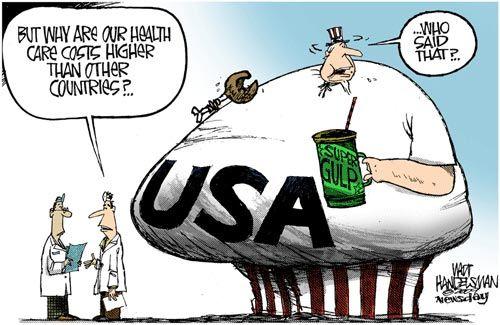 Image result for cartoon u.s healthcare