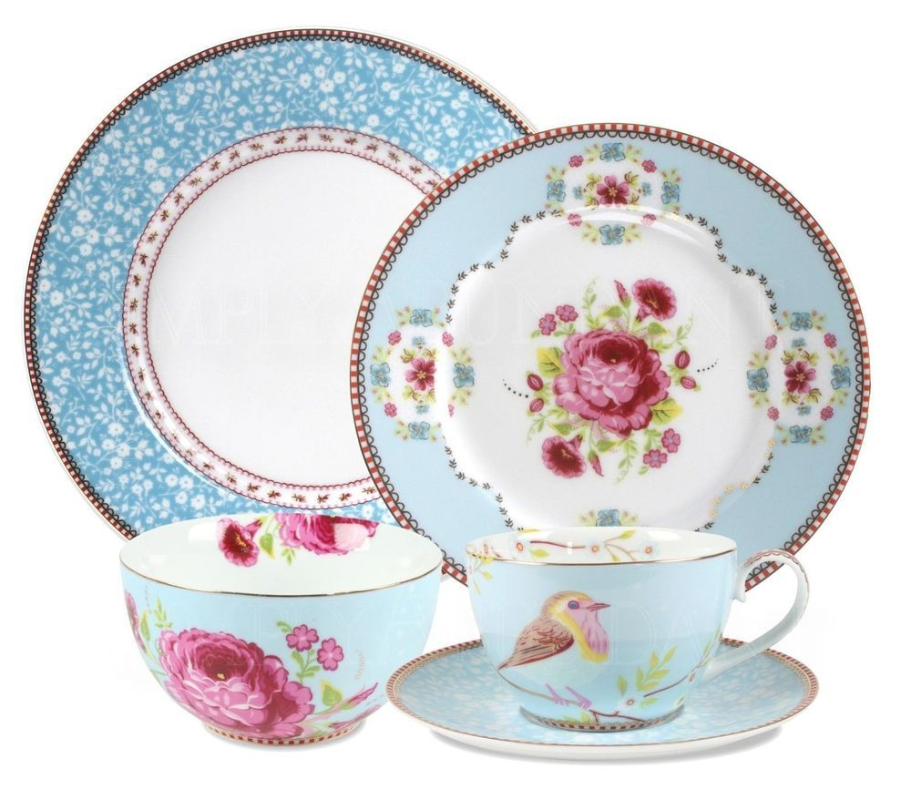 Pip Studio Dinnerware,Porcelain, 20 Piece Set Kitchen China Dishes ...