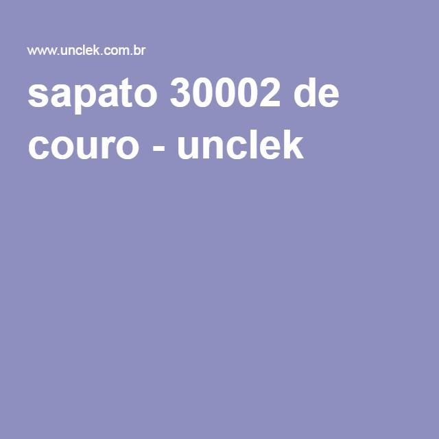 sapato 30002 de couro - unclek