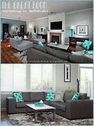 Image Result For What Colours Go With A Slate Grey Sofa Living Room Turquoise Teal Living Rooms Turquoise Room