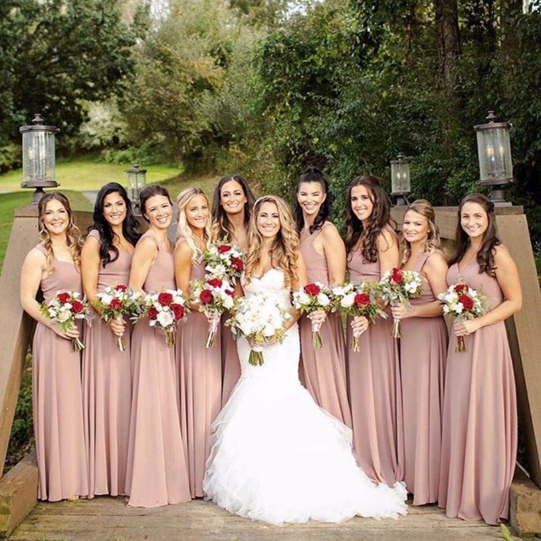 Dessy Style 8177 In Sienna Matte Chiffon Bridesmaid Dresses