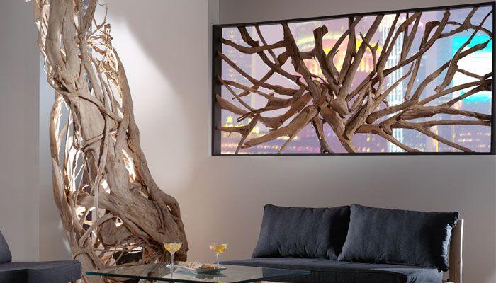 Interieur bois flotte et racine de teck recherche google for Recherche bois flotte