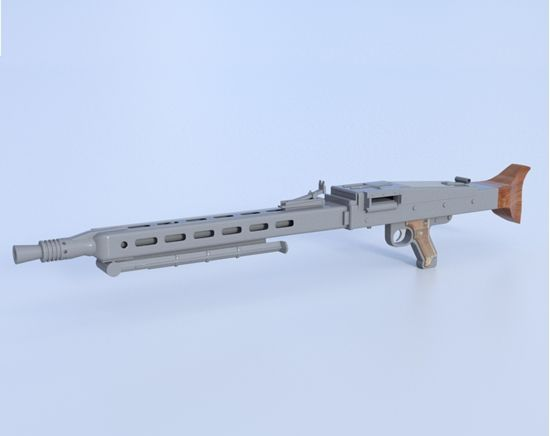 A German MG 42 Mauser machine gun with movable tripod 3D model for Poser and DAZ Studio.Find our speedloader now!  http://www.amazon.com/shops/raeind
