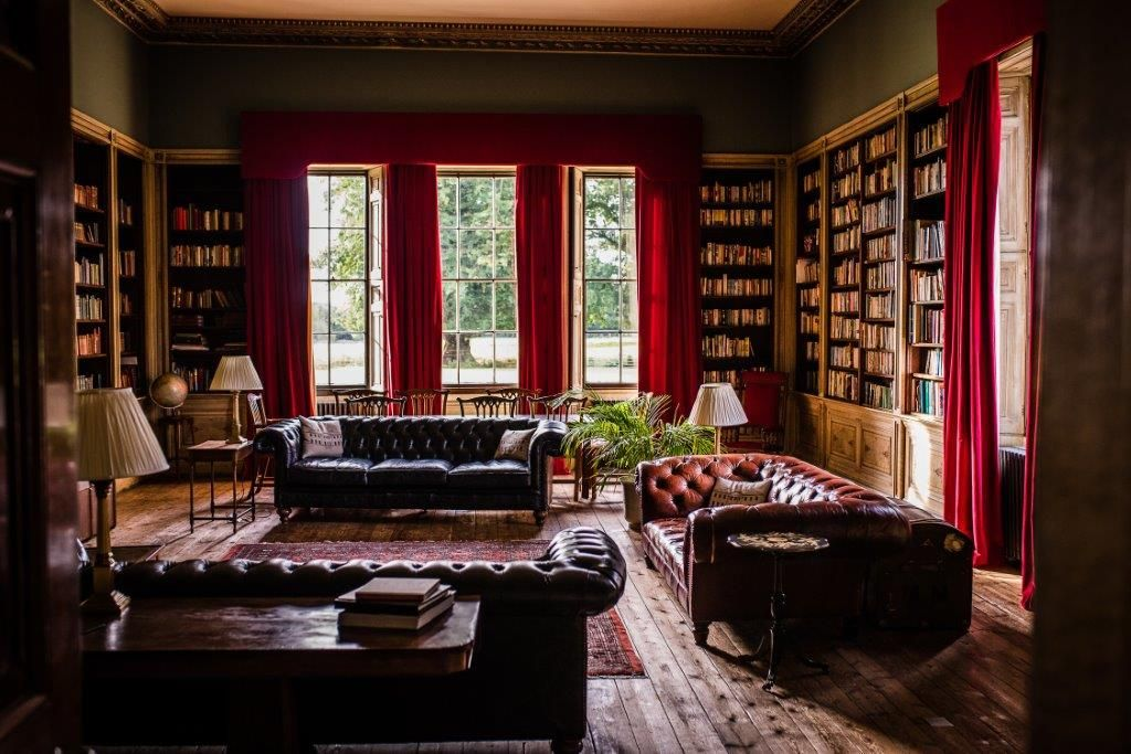 Library at Rise Hall Ideal home, Stately home, Bedroom