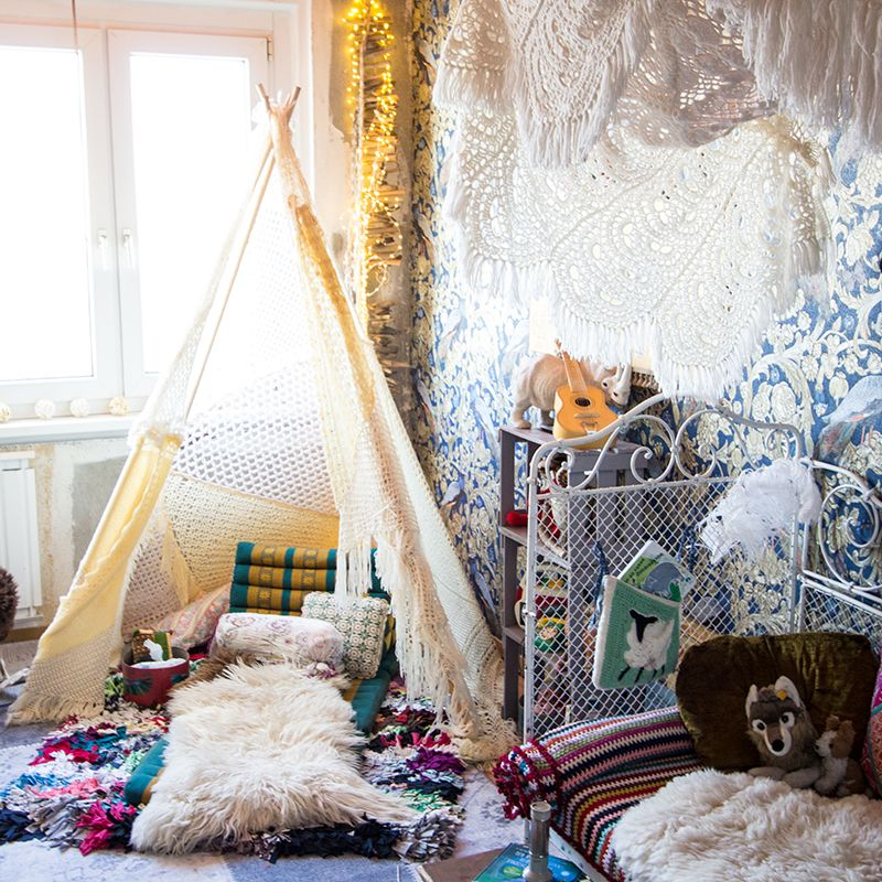 Kinderzimmer im Boho Look www.mummyandmini.com Foto: Tipiyeah ...