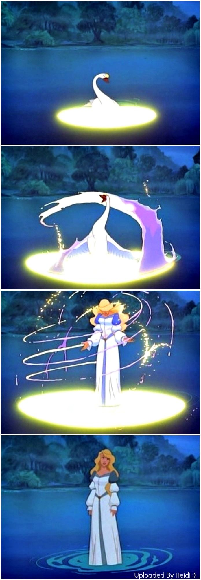 Odette's Transformation | The Swan Princess | Disney ...