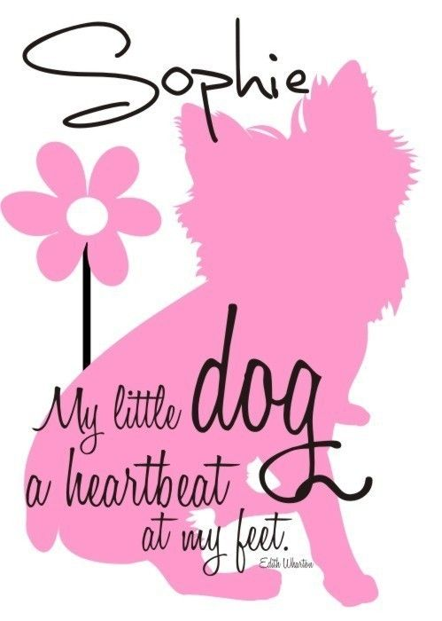 Dog Silhouette Art, Custom Dog Silhouette Print, Dog Artwork