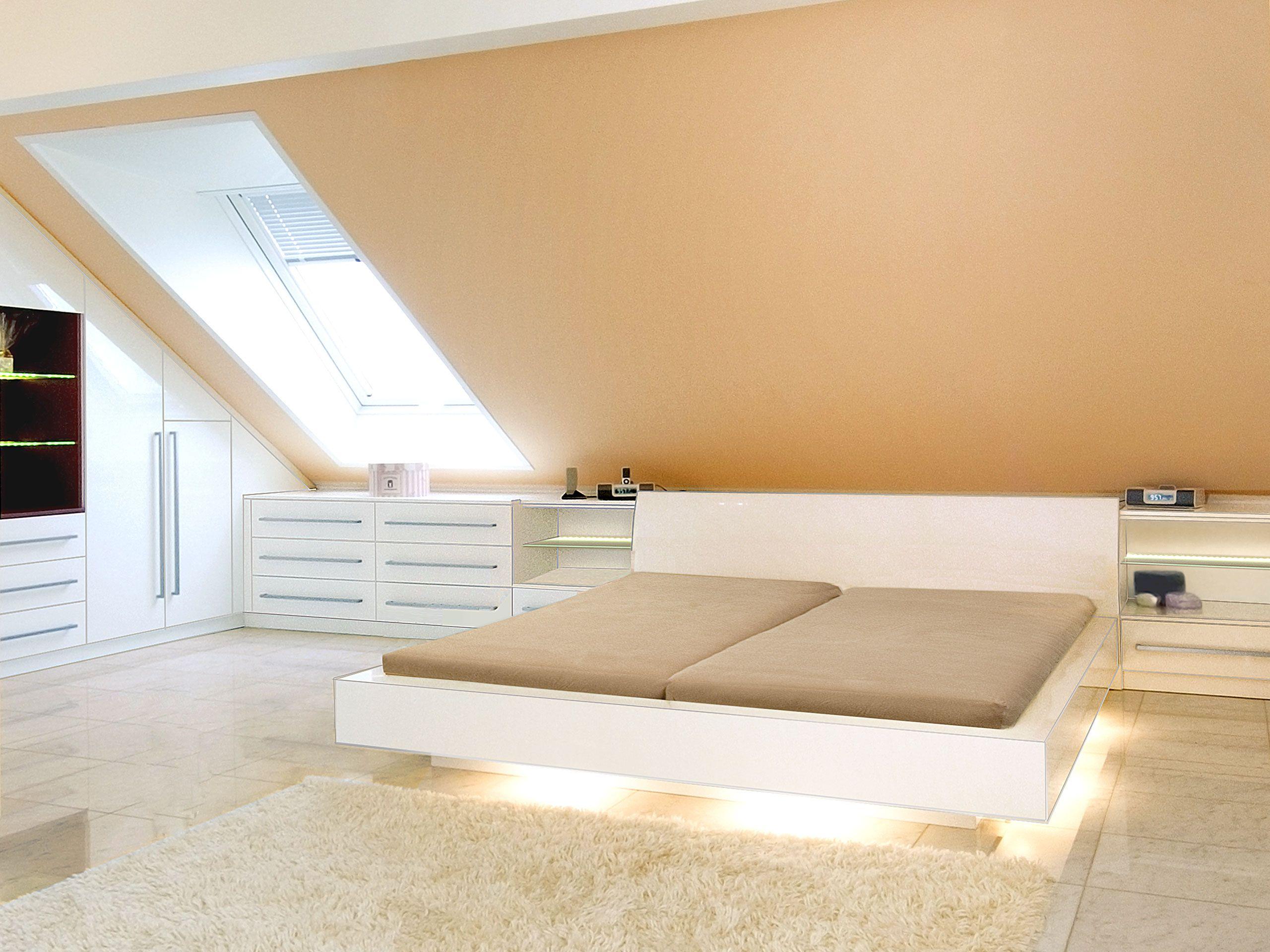Einrichtung für DesginSchlafzimmer in Hochglanzlack in