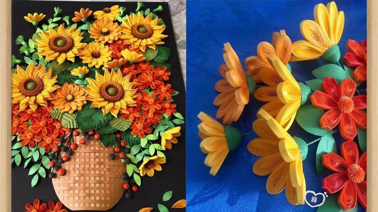 8 من السهل ورقة الزهور لديكور المنزل ورقة Diy اوريغامي للمبتدئين Https A Tracteur Cf P 2798 B Easy Paper Flowers Paper Flowers Paper Quilling Flowers