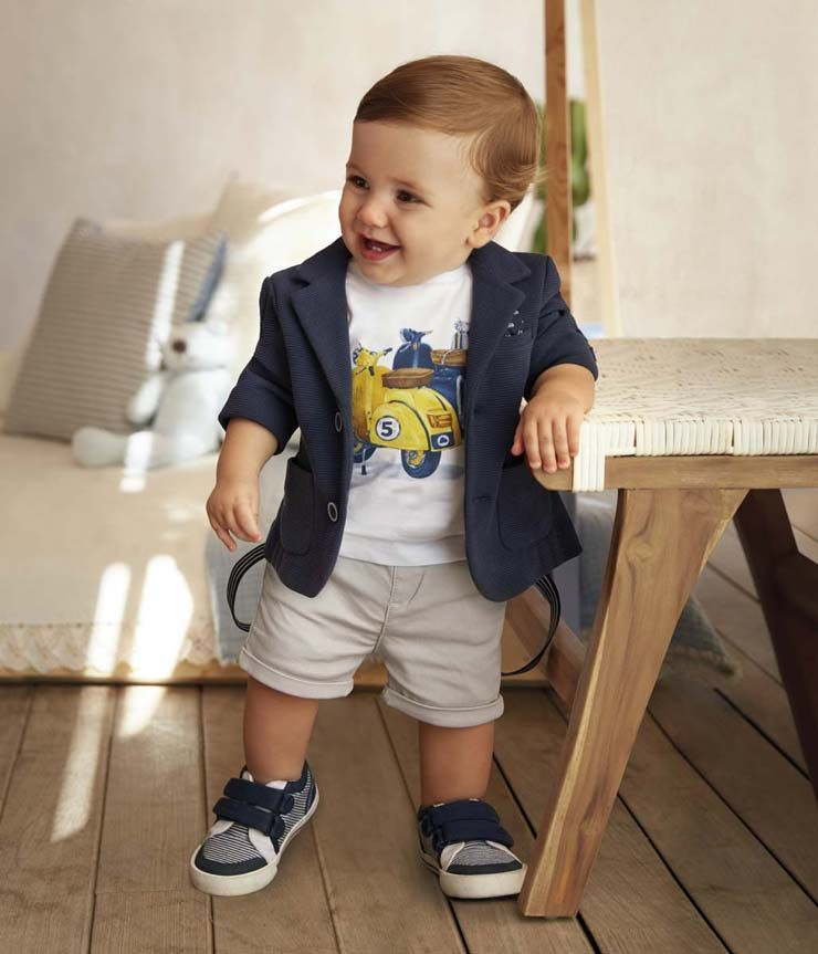 Mayoral Baby Collection Spring Summer 2018 Kidsfashionshoes Kids Outfits Baby Boy Outfits Baby Boy Dress