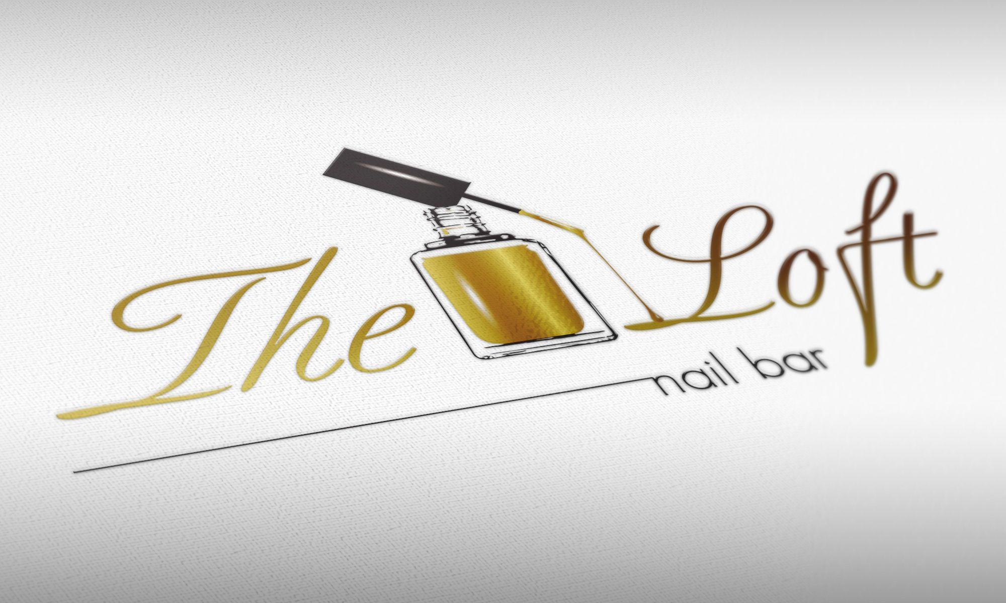 The Loft Nail Bar Logo Design | Logo Design | Pinterest | Bar logo ...