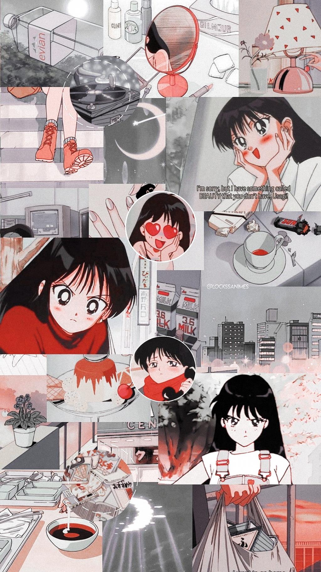 Soft aesthetic 90s anime aesthetic desktop wallpaper : List of Best Aesthetic Anime Wallpaper IPhone Rei Hino # ...