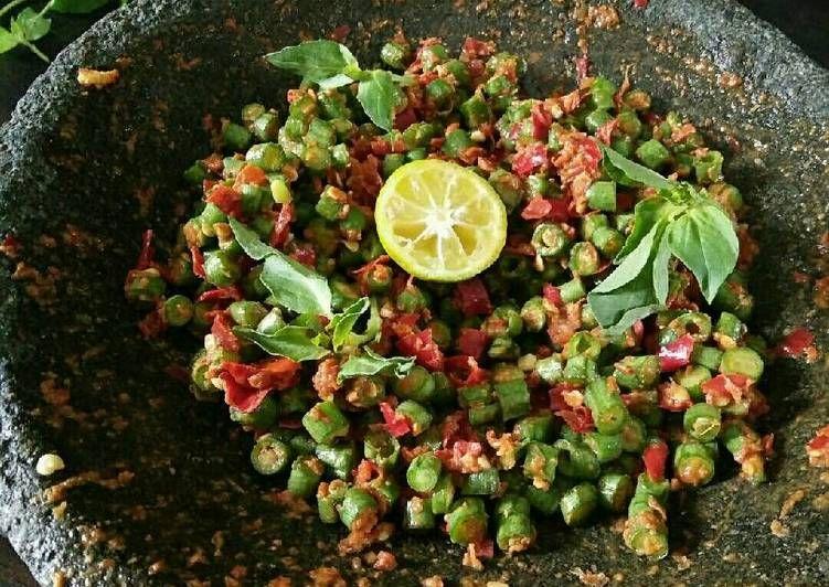 Resep Pencok Kacang Panjang Sambel Mentah Oleh Dapurvy Resep Kacang Resep Makanan