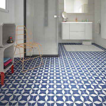 leroy merlin carrelage sol et mur bleu blanc effet ciment. Black Bedroom Furniture Sets. Home Design Ideas