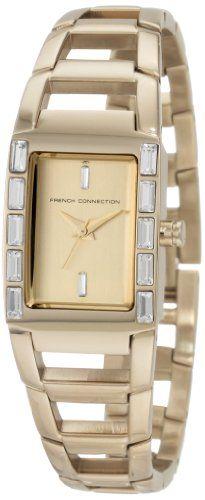 French Connection FCUK c FC1037G – Reloj de mujer de cuarzo, correa de acero inoxidable color oro | Your #1 Source for Watches and Accessories