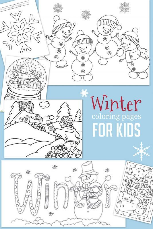 Christmas & Winter Coloring Pages for Kids to Color | Fun for School ...