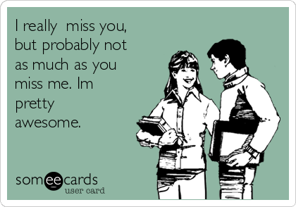Ecard missing you