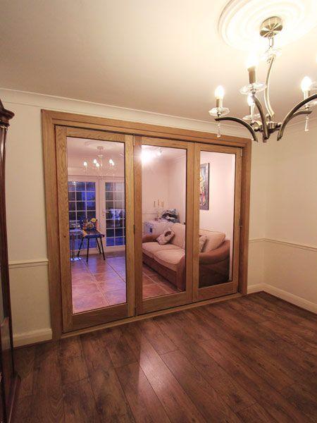 Oak Bi Folding Doors Signle Glazed Made To Measure Winchmore Hill N21 Room Divider Doors Internal Glass Doors Bifold Doors