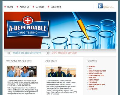 A Dependable Drug Test Site designed to use the Adobe