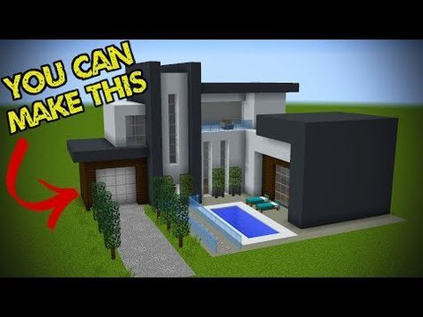 5 Easy Steps To Make A Minecraft Modern House Youtube Minecraft