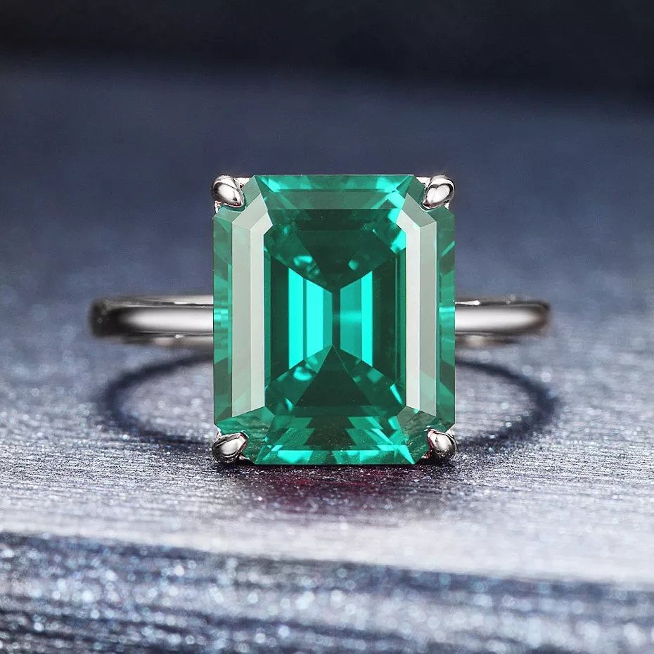 Dainty Emerald Ring Vintage Emerald Ring Emerald Gems Ring Gift For Her Dainty Emerald Rings Emerald Silver Ring Emerald Rings