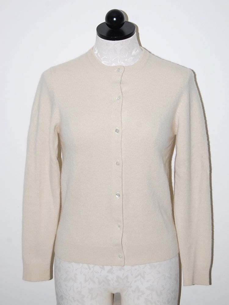 TSE 100% Cashmere Woman's Ivory Cardigan Sweater Set S #TSE ...