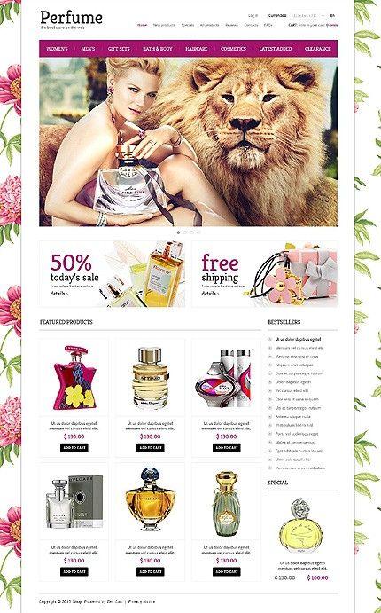 'Perfume Online' #webdesign for Zen Cart 1.5 Template 45395 http://zign.nl/45395