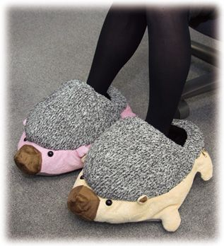 Usb Foot Warmer Hedgehog Slippers Keep Office Workers Tootsies Toasty